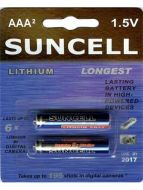 Suncell Extreme Lithium AA Battery: 2 Pack