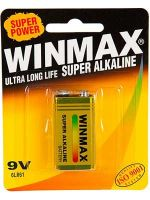 Winmax 9 Volt Battery: 1 Pack - 12 Packs/Carton