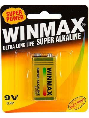 Winmax 9 Volt Battery: 1 Pack