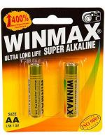 Winmax Ultra Alkaline AA Battery: 2 Pack - 12 Packs/Carton