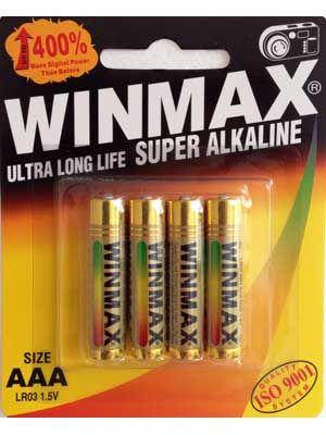 Winmax Ultra Alkaline AAA Battery: 4 Pack