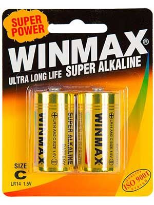 Winmax Ultra Alkaline C Battery: 2 Pack