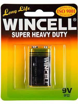 Wincell 9 Volt Battery: 1 Pack