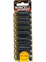 Wincell Super Heavy Duty AA Battery: 10 Pack - 12 Packs/Carton