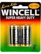 Wincell Super Heavy Duty C Battery: 2 Pack