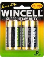 Wincell Super Heavy Duty D Battery: 2 Pack - 6 Packs/Carton