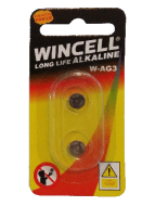Wincell AG3 Coin Battery: 2 Pack