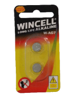 Wincell AG7 Coin Battery: 2 Pack