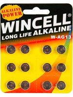 Wincell AG13 Coin Battery: 12 Pack - 24 Packs/Carton