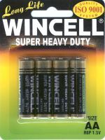 Wincell Super Heavy Duty AA Battery: 4 Pack - 12 Packs/Carton